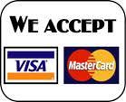 We Accept Visa & Mastercard